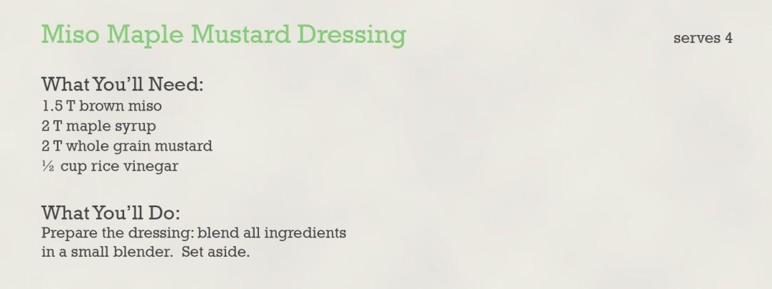miso maple mustard dressing