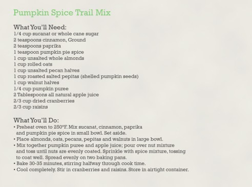 Pumpkin Spice Trail Mix Recipe