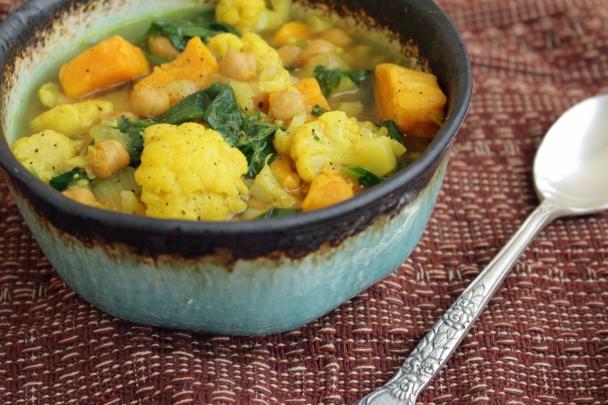 Sweet Potato, Chickpea & Spinach Stew | Photo By: Krystelle Fournier