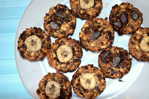 Banana Cacao Chip Muffins | The Blonde Vegan