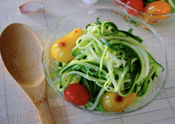Garlic Zucchini Noodles | Petite Allergy Treats