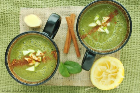 Hot Apple Cider Smoothie by @JesseLWellness #glutenfree