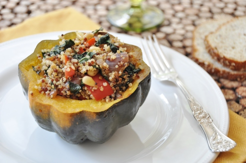 Recipe Friday: Stuffed Acorn Squash with Quinoa and Kale