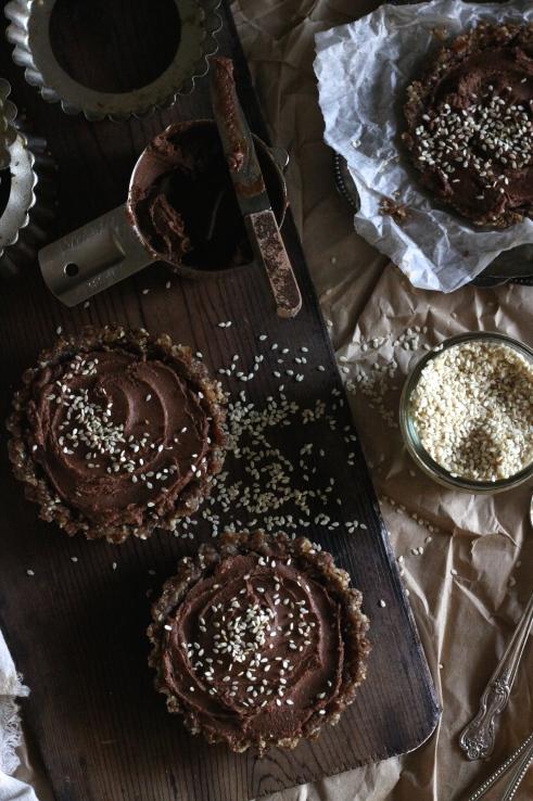 Recipe Friday: Salted Caramel & Sesame Chocolate Cream Tarts