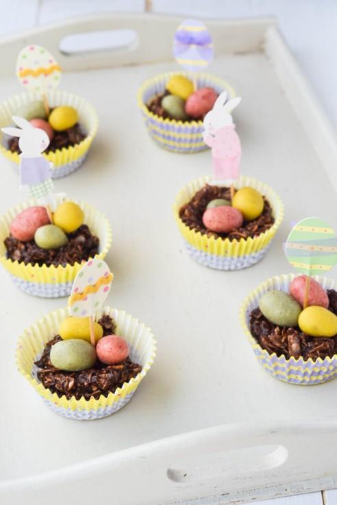 raw, vegan chocolate easter egg nests