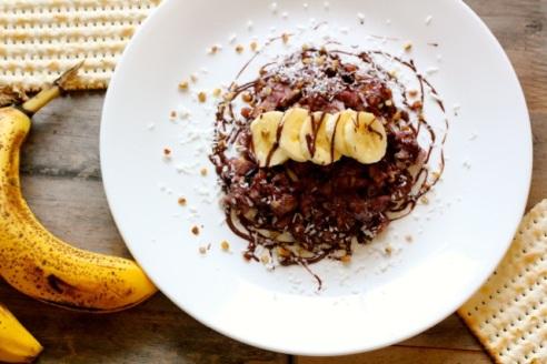 dark-chocolate-coconut-banana-vegan-matzah-brei