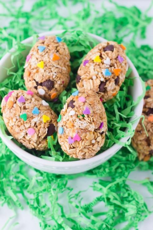 Health Oatmeal Peanut Butter Eggs