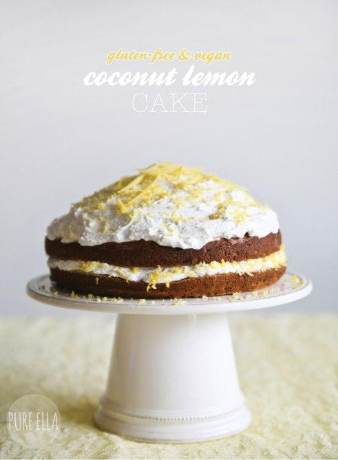 Gluten-Free, Vegan Coconut Lemon Cake
