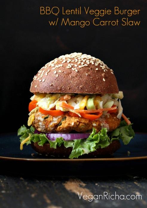 bbq-lentil-veggie-burger