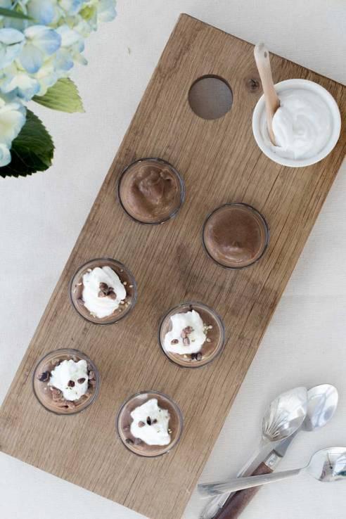 chocolate pots and coconut creams