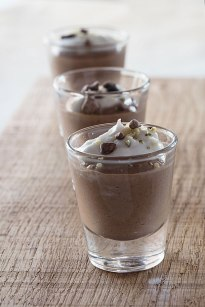 chocolate pots and coconut creams