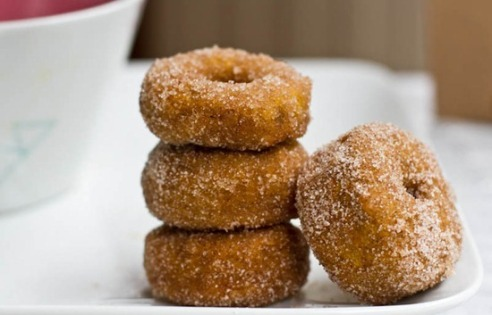 mini cinnamon sugar, vegan donuts