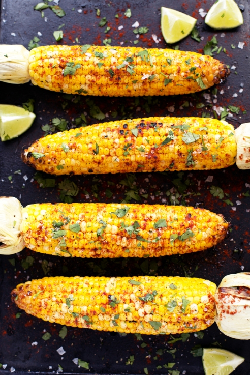 Grilled-Lime-Cilantro-and-Paprika-Corn-Blissful-Basil