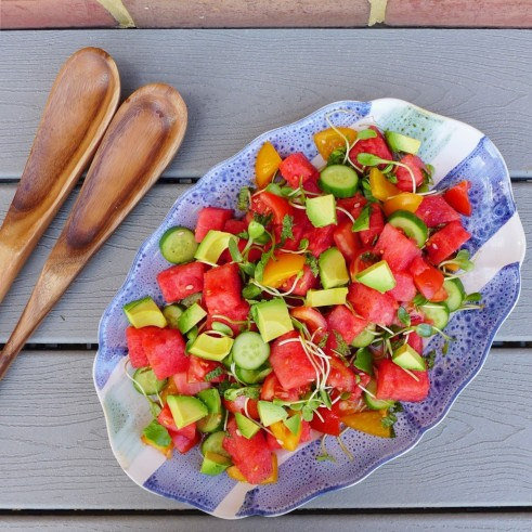 watermelon salad by in my bowl